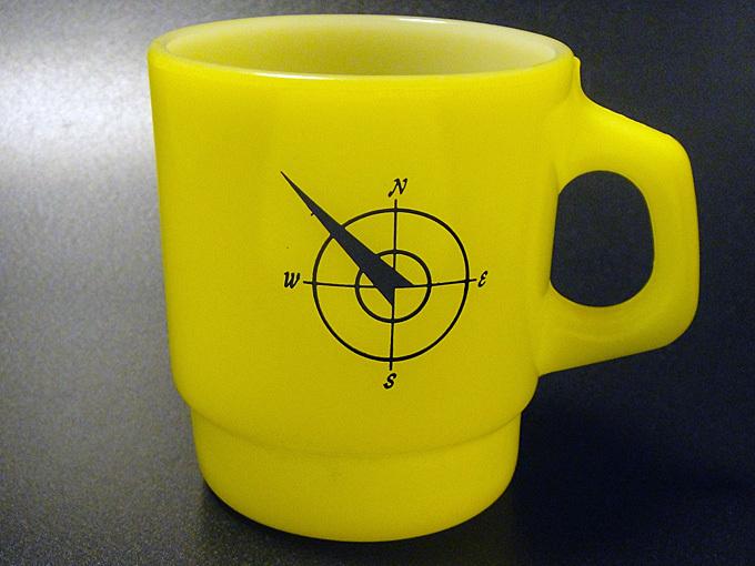 ★70'sファイヤーキング ノースウエスト・コンパス黄色マグカップ