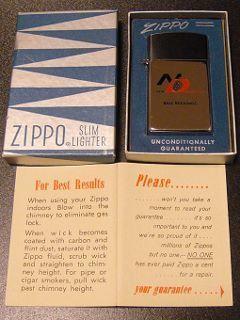 ★60'sジッポー企業広告ノベルティスリムライター箱付1961年製