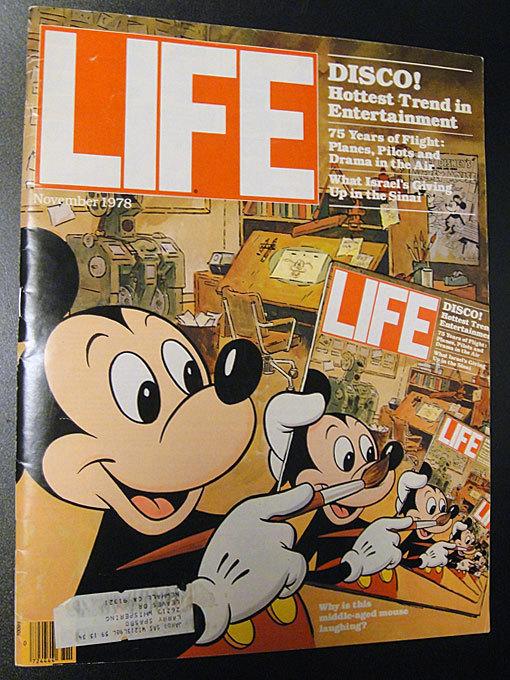 ★70'sアメリカン雑誌ライフマガジンLIFEミッキーマウス1978年11月号