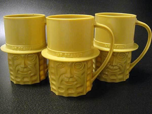 ★70'sアメリカ製プランターズ・ミスター・ピーナッツカップ