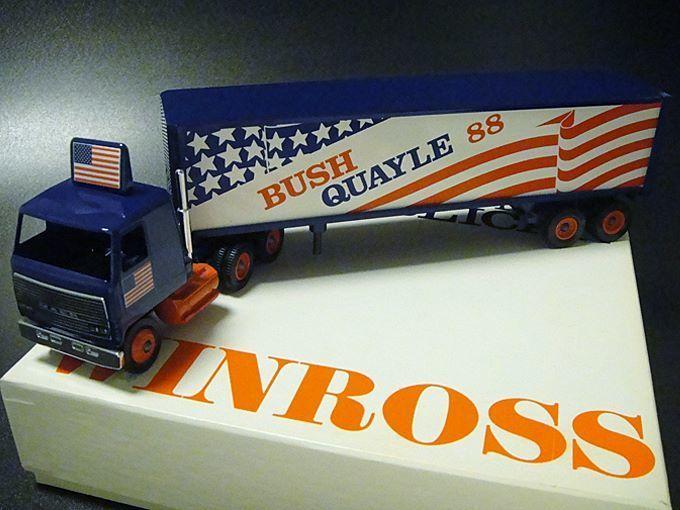 ★80'sアメリカ合衆国大統領選挙ウィンロス社製ミニチュアトラック