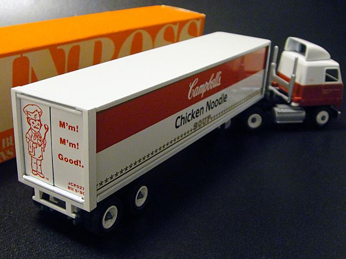 ★90'sアメリカ製キャンベル・チキンヌードルスープ仕様ウィンロス社ミニチュアトラックトレーラー